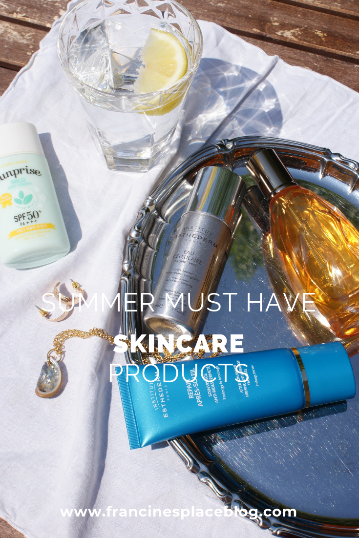 summer must have skincare products beauty korean francinesplaceblog
