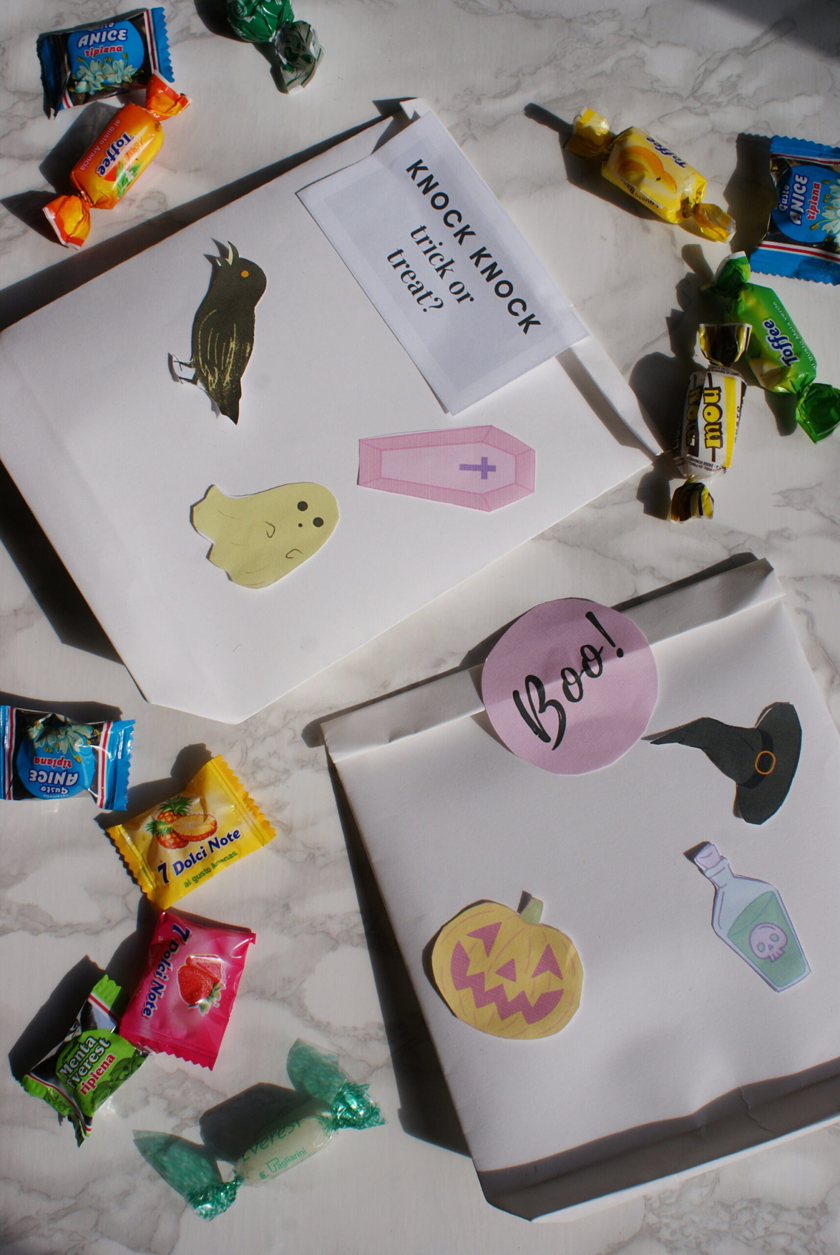 diy halloween treat bags paper tutorial easy last minute idea francinesplaceblog