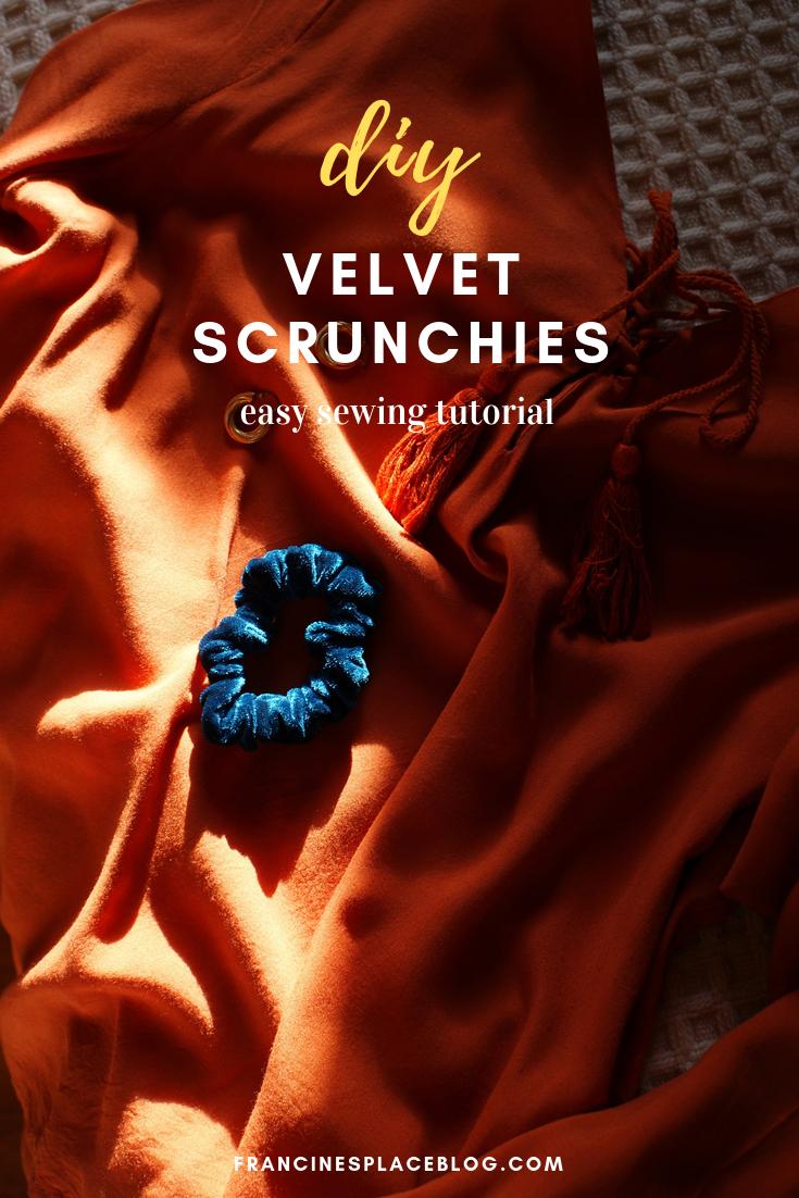 diy velvet scrunchies hair trend ultimate tutorial francinesplaceblog