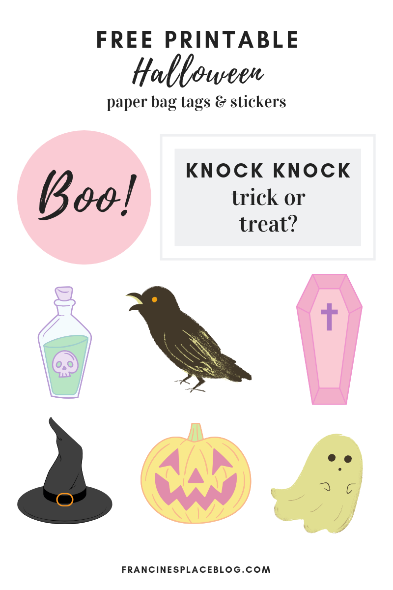 free printable halloween tags stickers graphics download