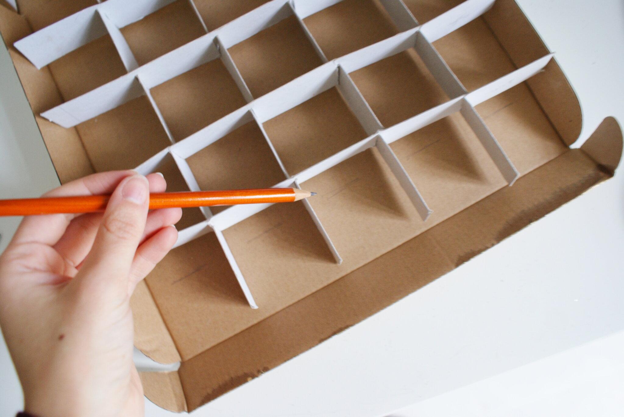 calendario avvento scatola cioccolatini fai da te diy handmade facile veloce