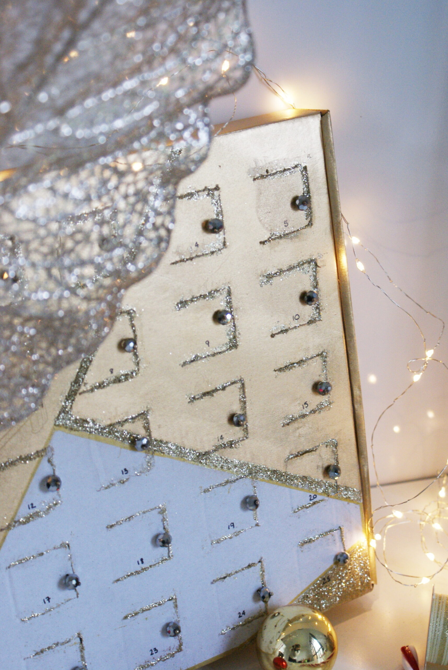 minimalist advent calendar diy idea tutorial handmade craft