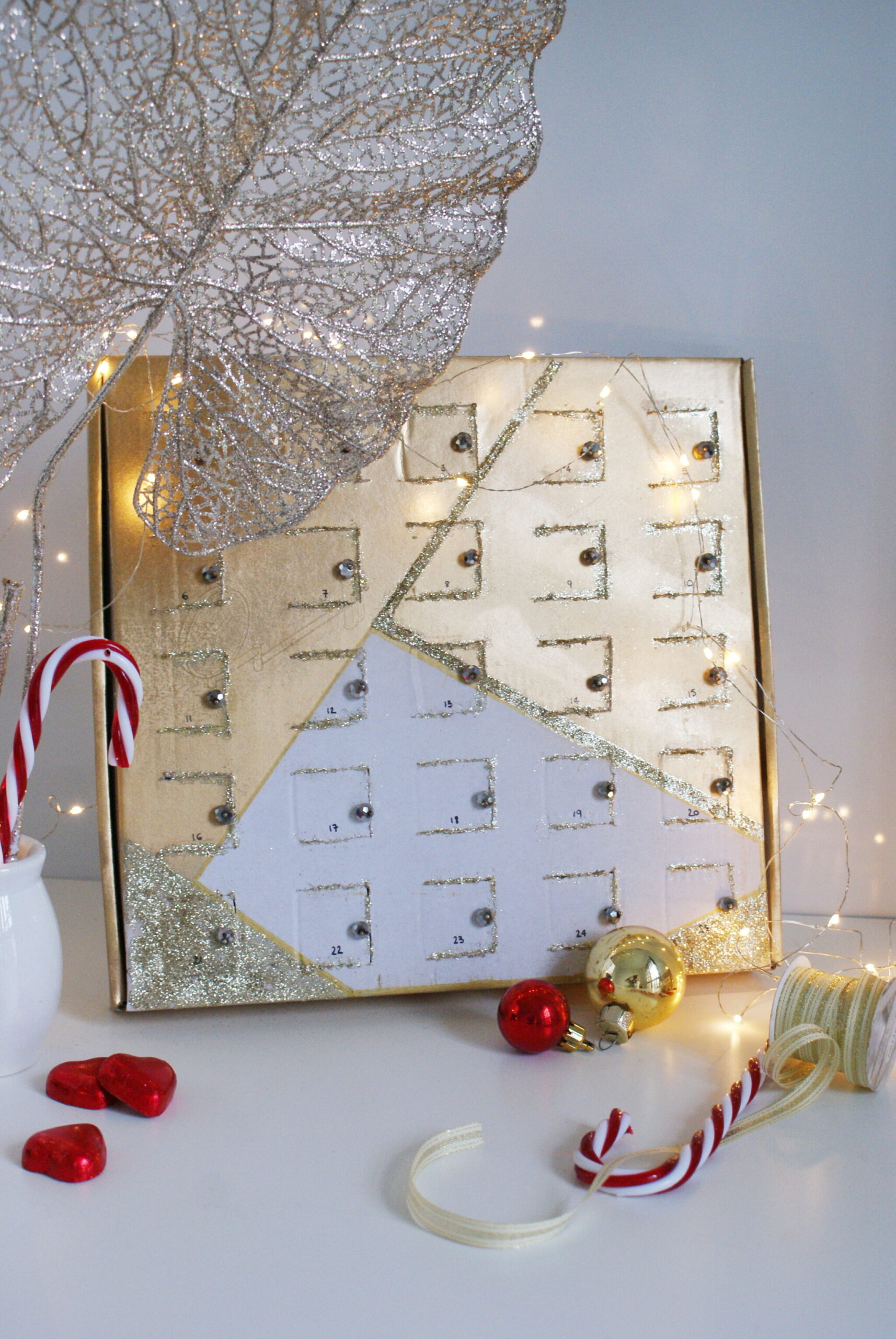diy advent calendar chocolate box reusable last minute idea craft handmade easy francinesplaceblog