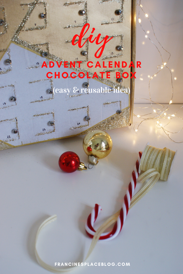 diy advent calendar chocolate box idea last minute handmade christmas francinesplaceblog
