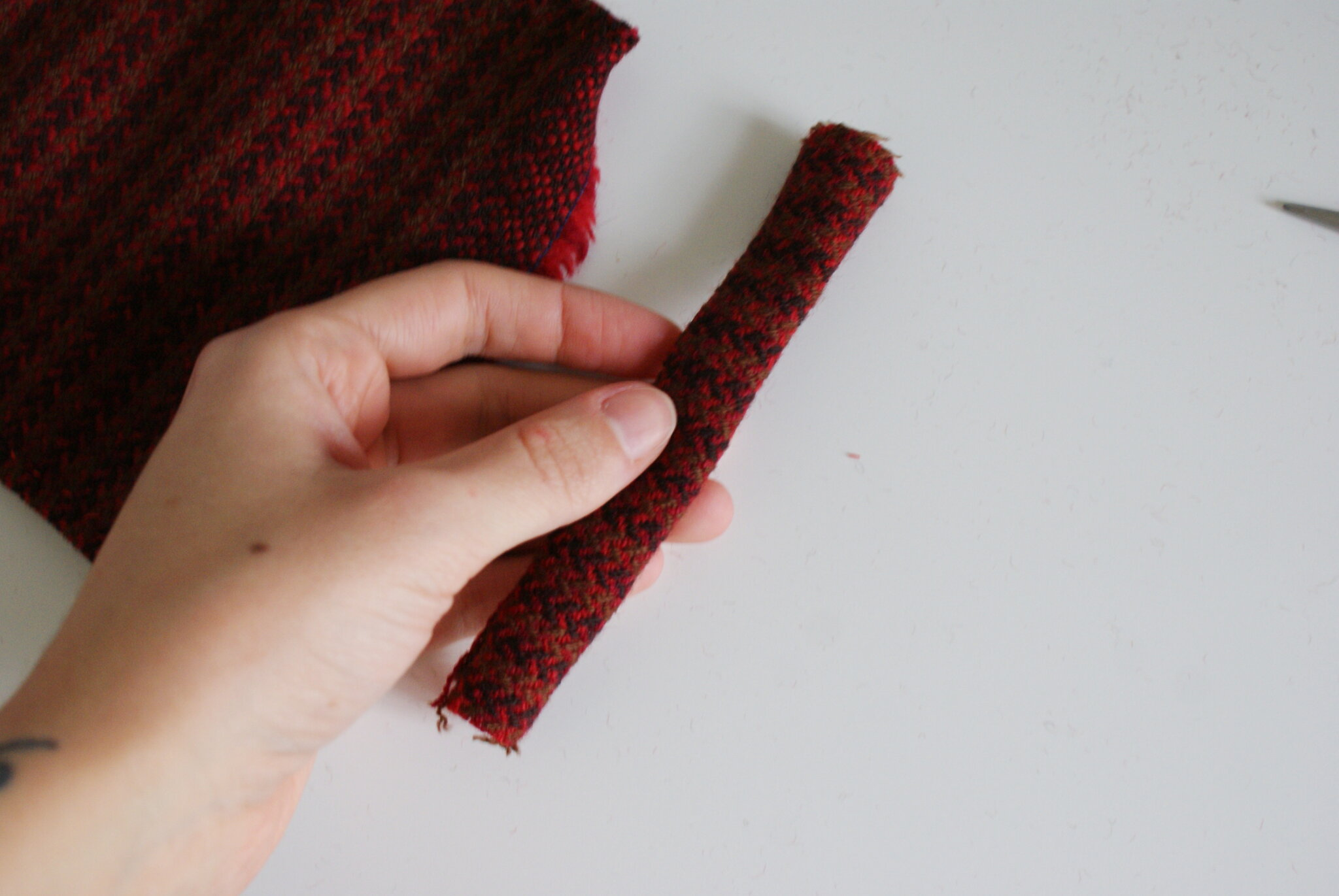 diy tartan hair bow clip sewing tutorial