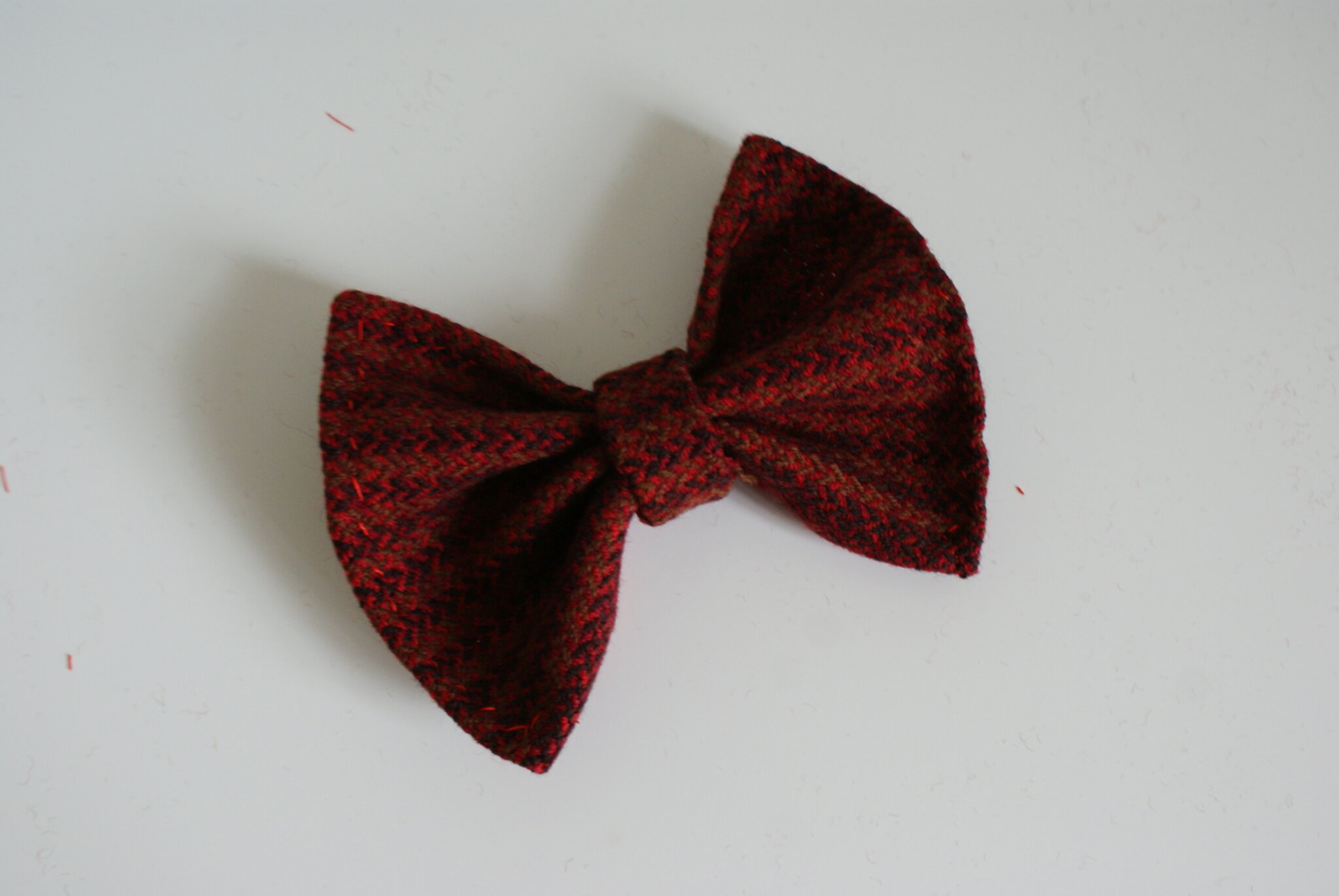 diy tartan hair bow easy tutorial