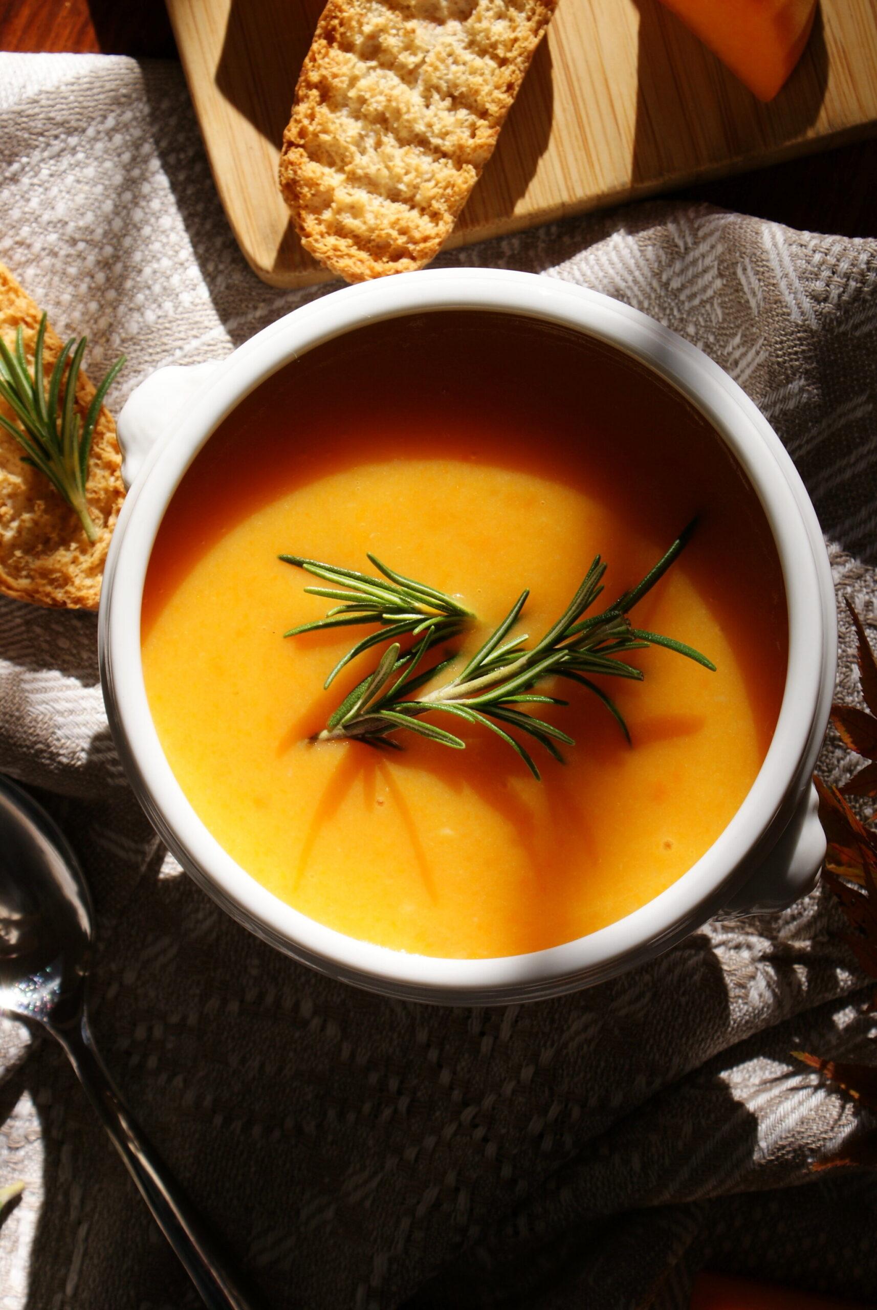 idee zuppa vellutata autunno zucca facile veloce ricetta