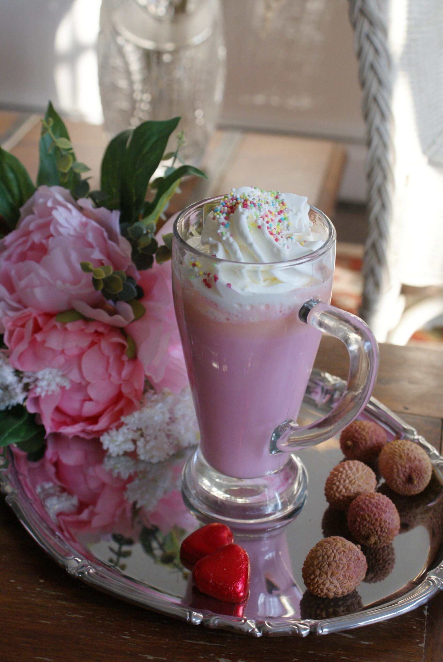 pink hot chocolate unicorn dessert recipe idea ultimate francinesplaceblog