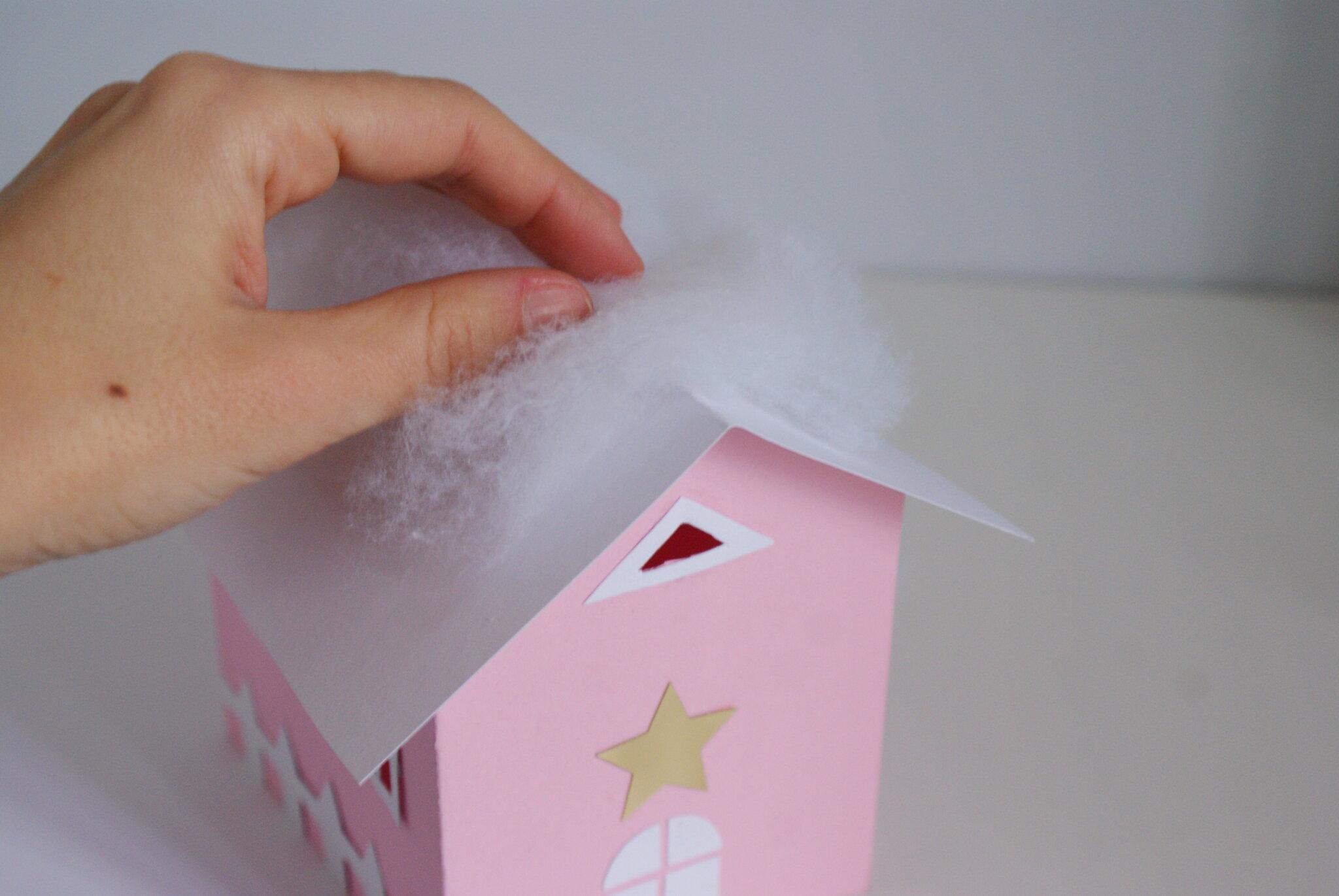 casetta carta natale natalizia decorazione tutorial facile diy mano fai da te