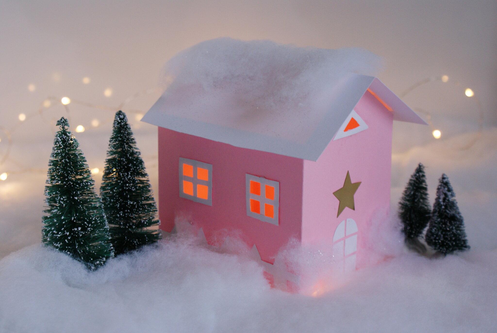 casetta natale natalizia decorazione carta fai da te villaggio mini diy tutorial facile francinesplaceblog