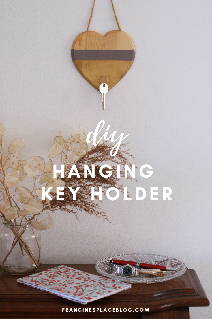 diy minimalist neutral hanging key holder wood entryway home decor valentine gift idea francinesplaceblog