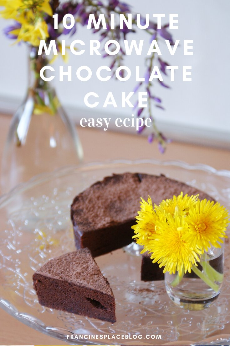 10 ten minute chocolate cake microwave recipe easy simple few ingredients ultimate francinesplaceblog