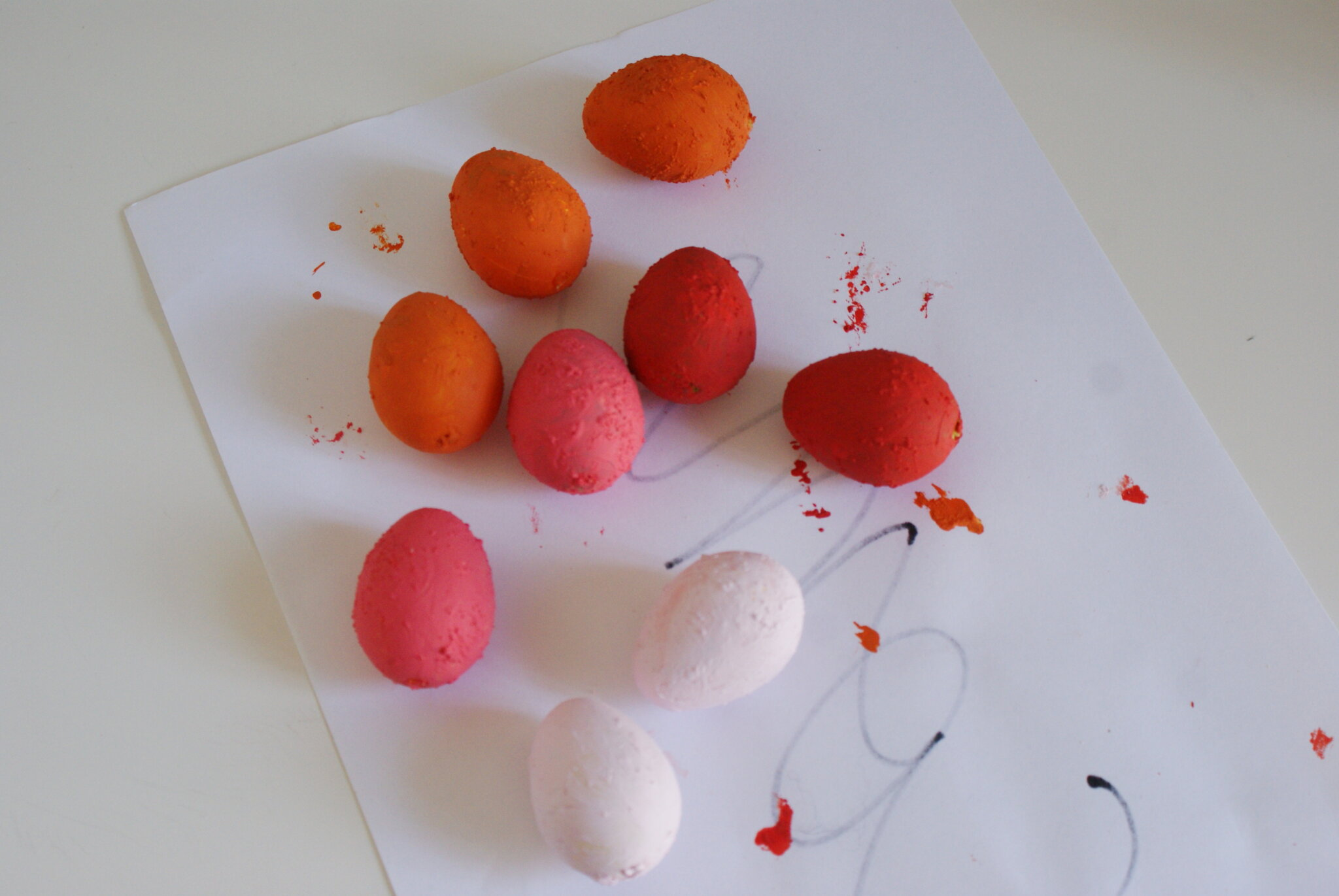 diy terracotta easter eggs decoration homemade paint craft ideas last minute easy simple