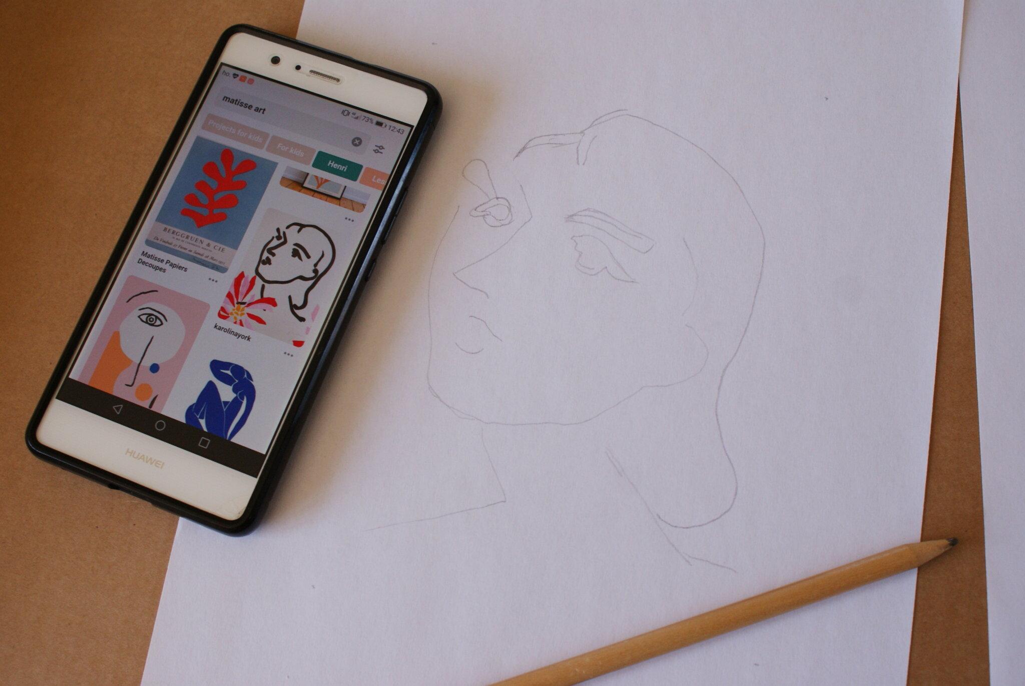tutorial replicare fare dipingere casa ritratto henri matisse fai da te