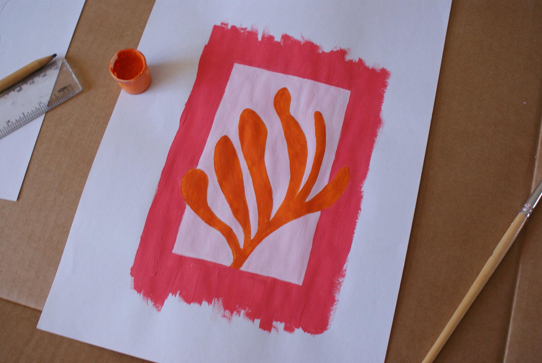 dipinto henri matisse fai da te replicare fare casa floreale piante minimal