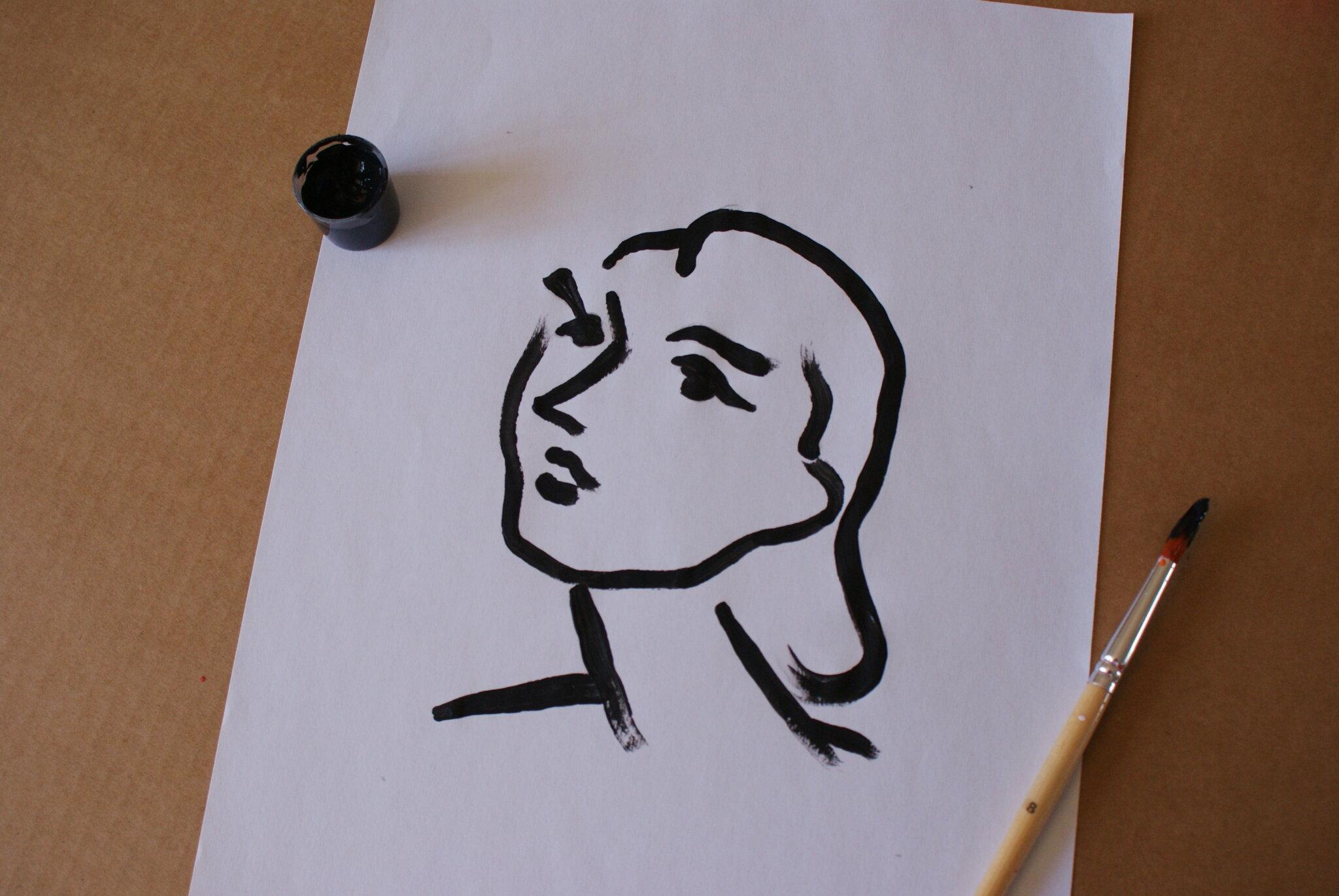 diy henri matisse portrait painting easy tutorial home beginner art