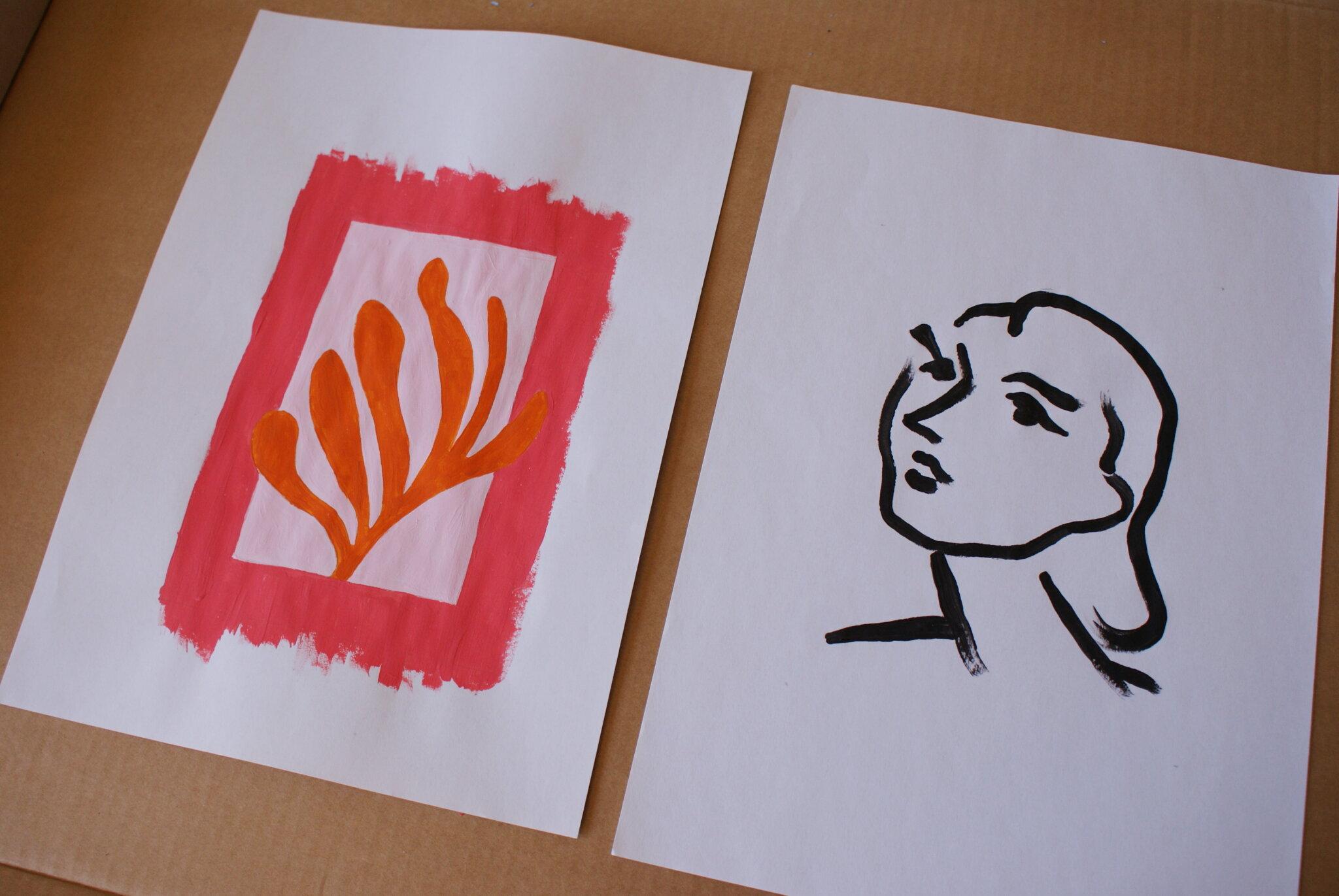 diy minimalist paintings inspired henri matisse art try make home beginner tutorial