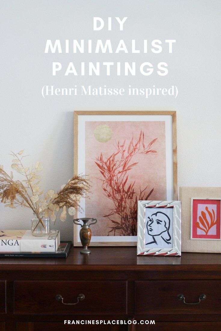 diy minimalist paintings inspired henri matisse art try make home beginner tutorial easy pinterest