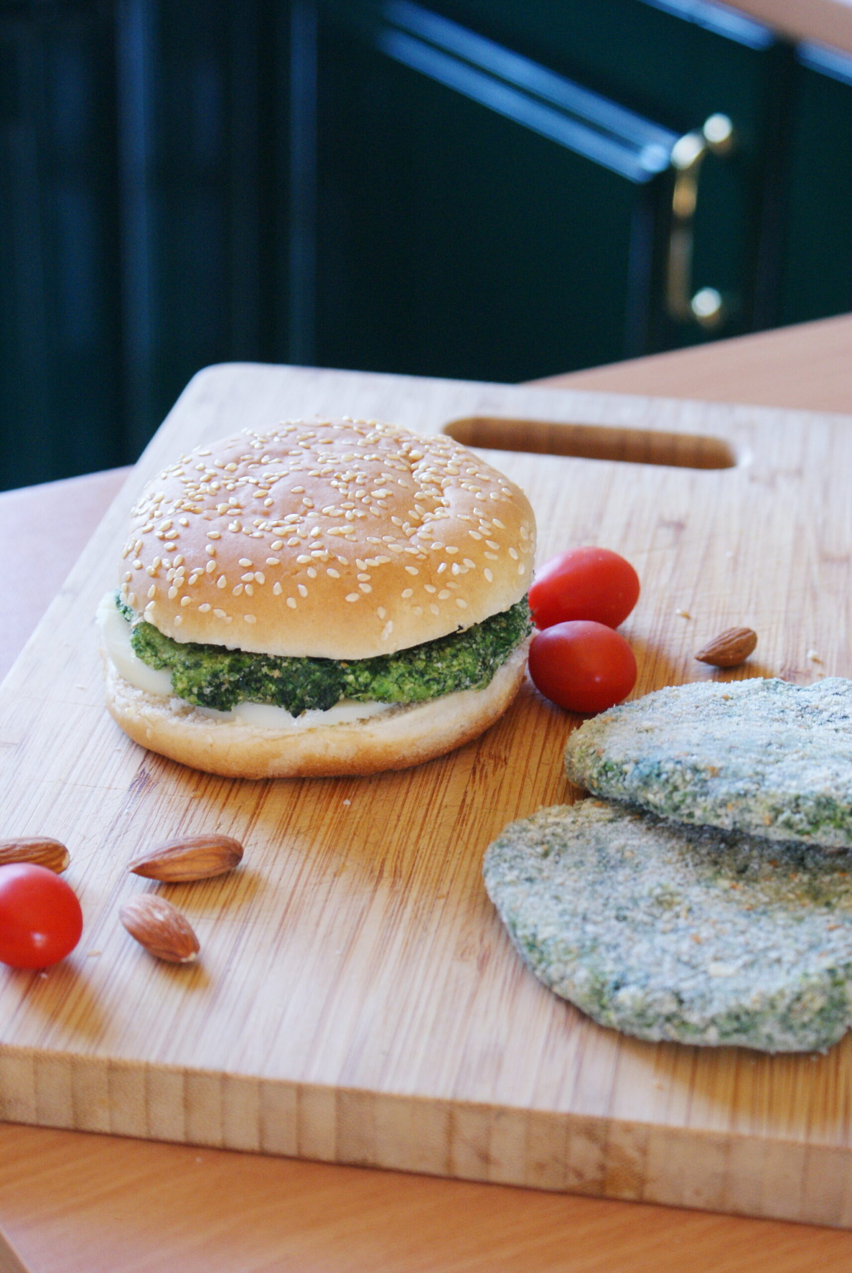 homemade spinach tofu green burgers vegan easy recipe simple 5 minute healthy francinesplaceblog
