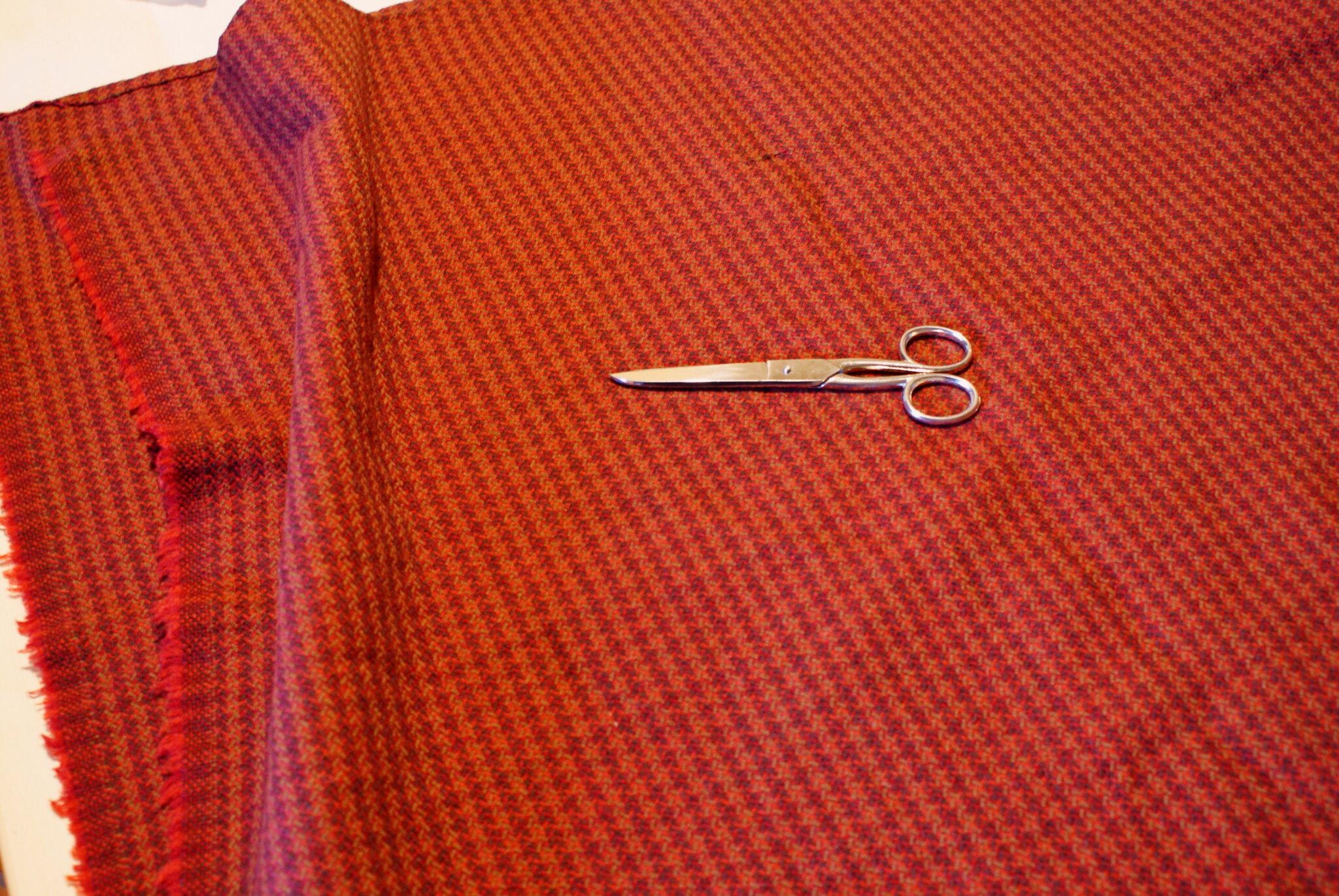 tartan tweed wool diy creaft sewing project