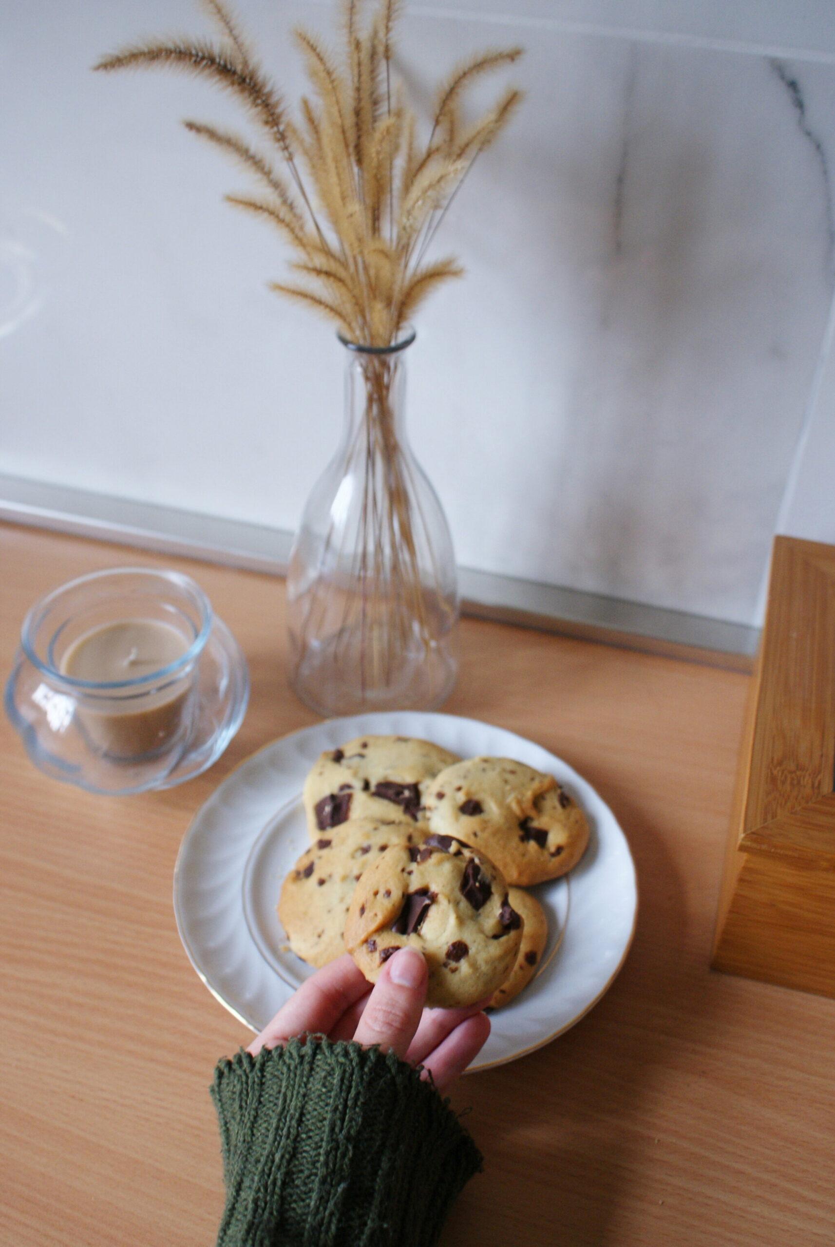 vera migliore ricetta facile veloce cookie americani gocce pezzi cioccolato vegan senza uova burro