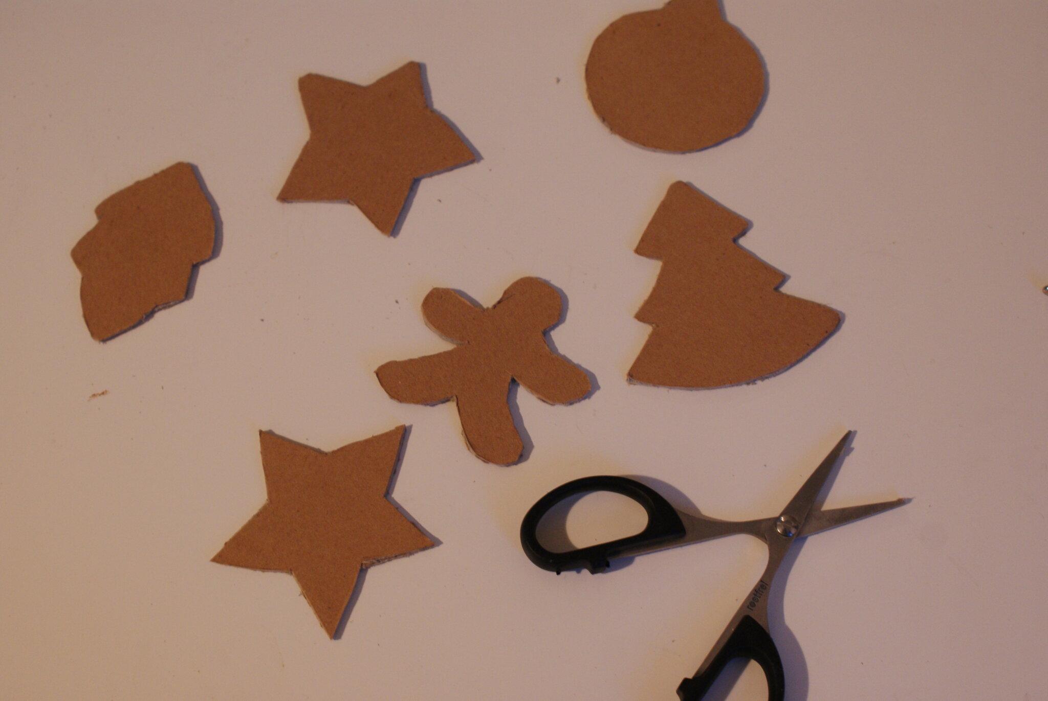 diy cardboard gingerbread cookies christmas tree ornaments idea easy last minute francinesplaceblog tutorial