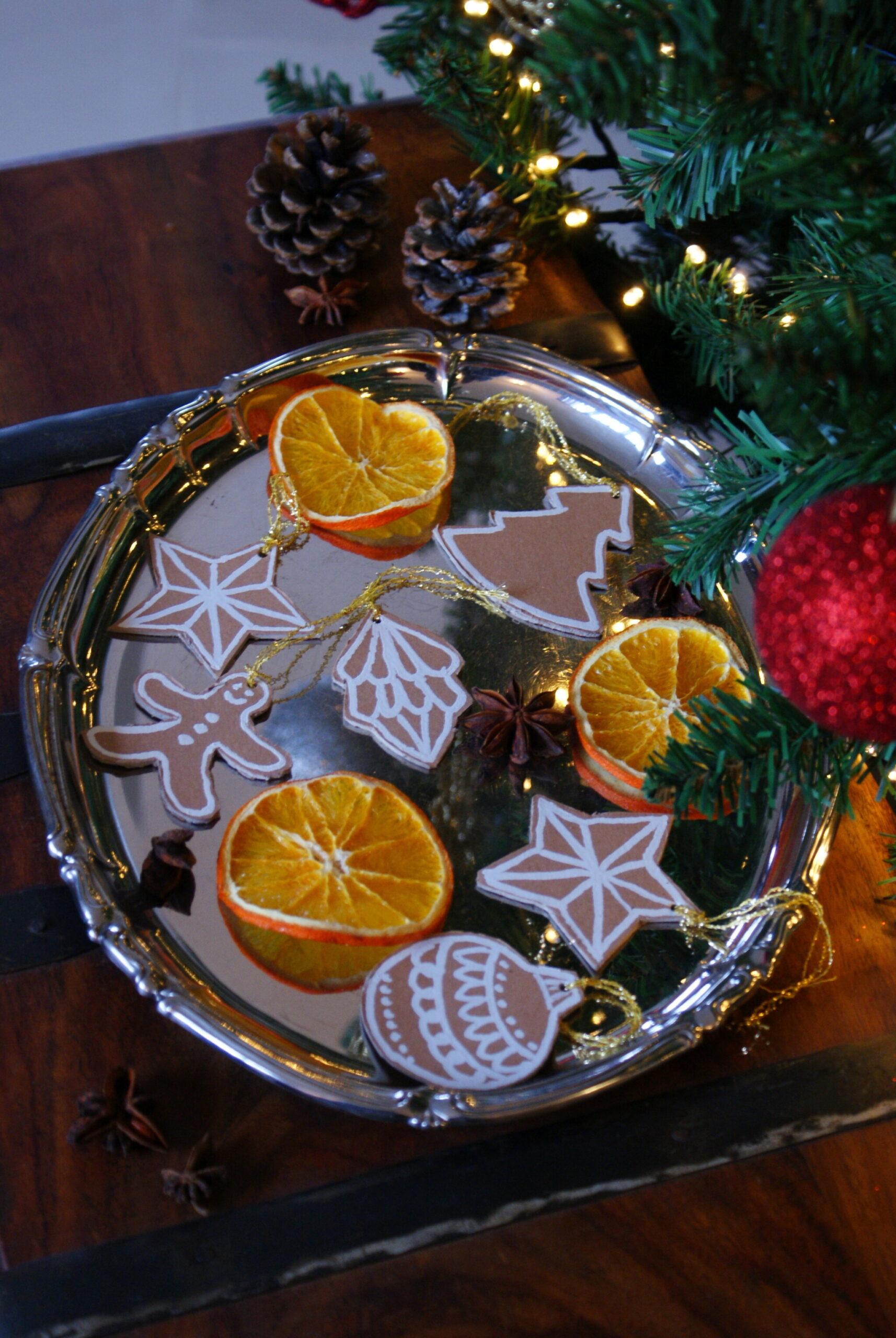 diy cardboard gingerbread cookies christmas tree ornaments idea easy last minute francinesplaceblog craft decorations
