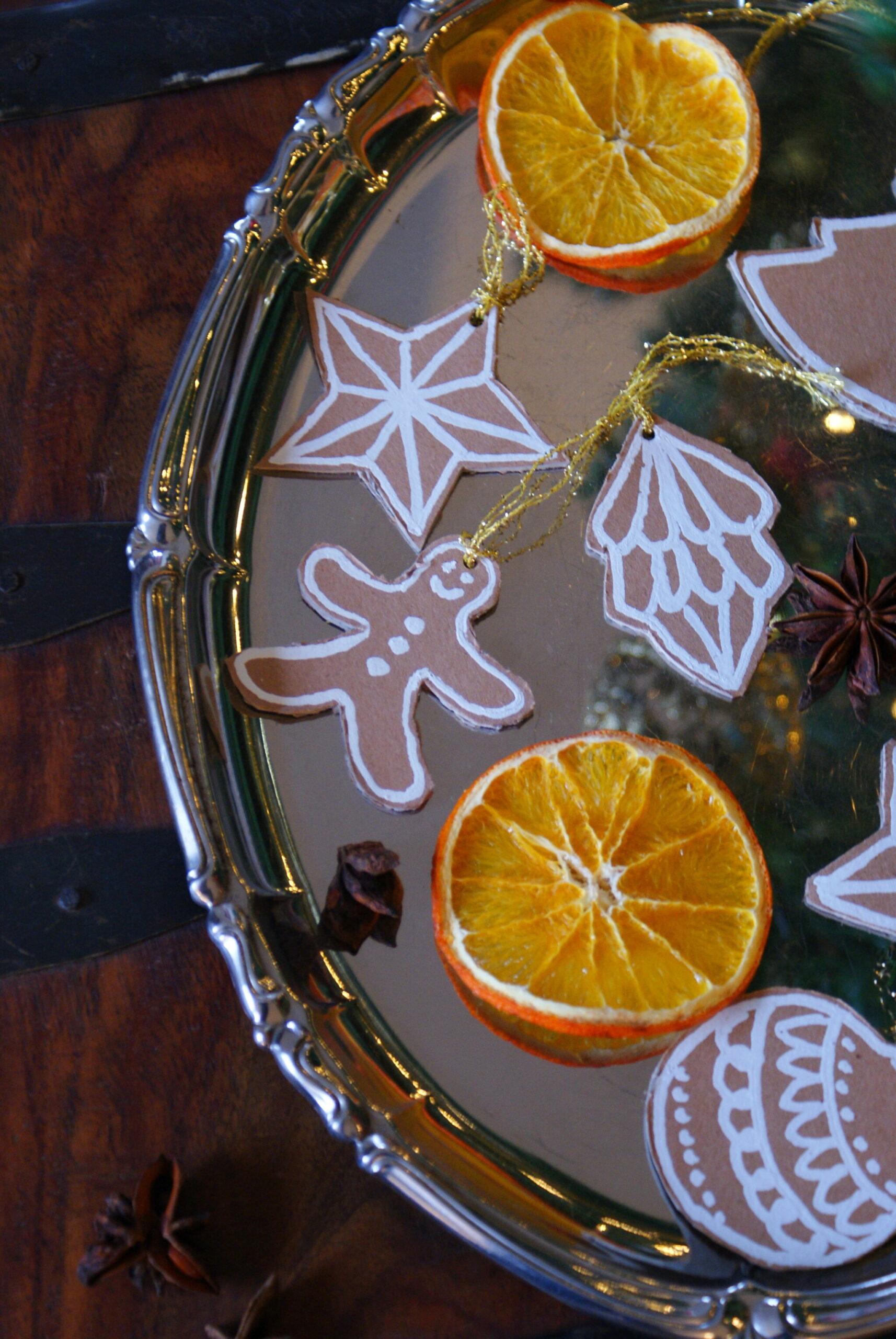 diy cardboard gingerbread cookies christmas tree ornaments idea easy last minute francinesplaceblog simple