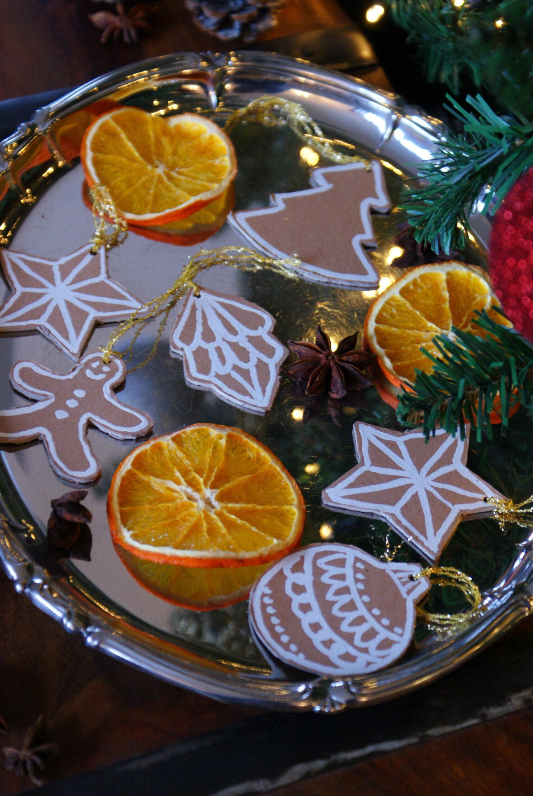biscotti pan di zenzero cartoncino fai da te finti idea decorazioni addobbi albero natale natalizi veloci facili tutorial