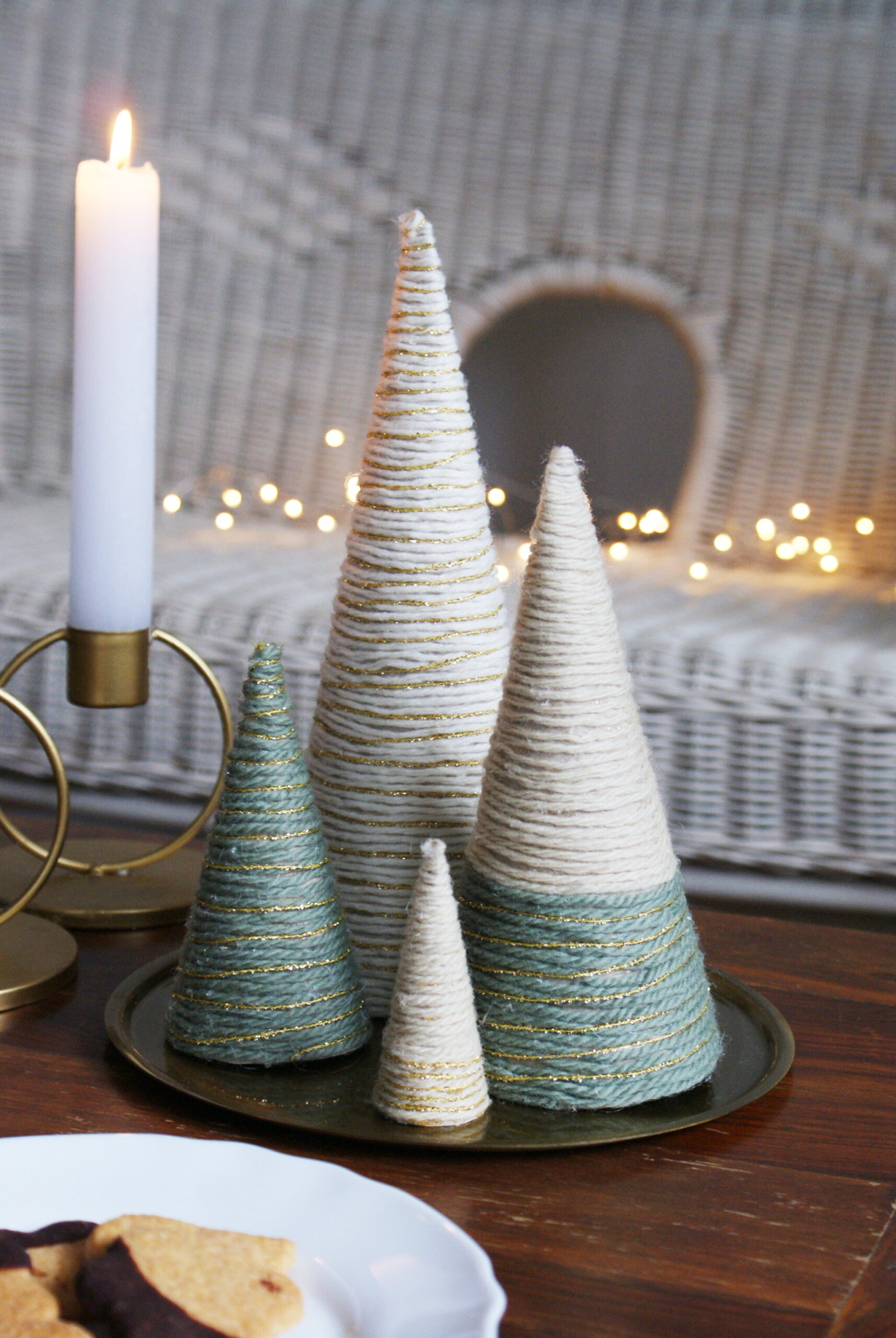 diy yarn christmas tree wool wrapped easy quick simple last minute decoration idea francinesplaceblog craft ultimate best