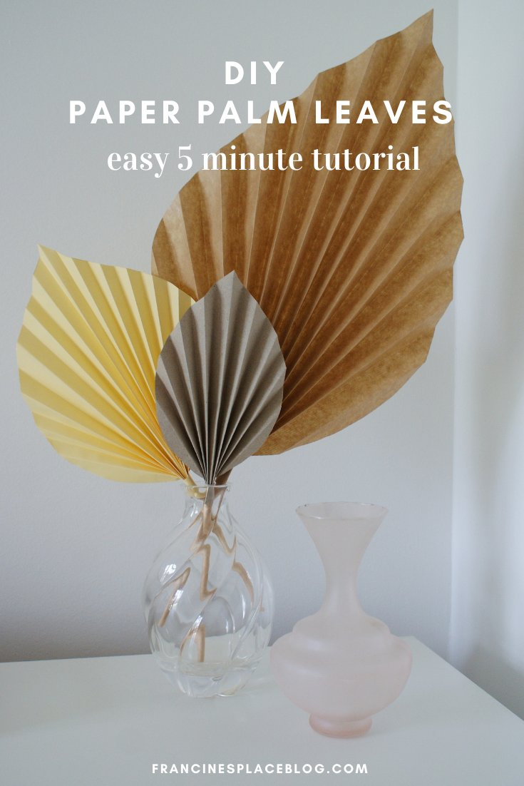 diy paper palm leaves easy craft tutorial 5 minute home decor