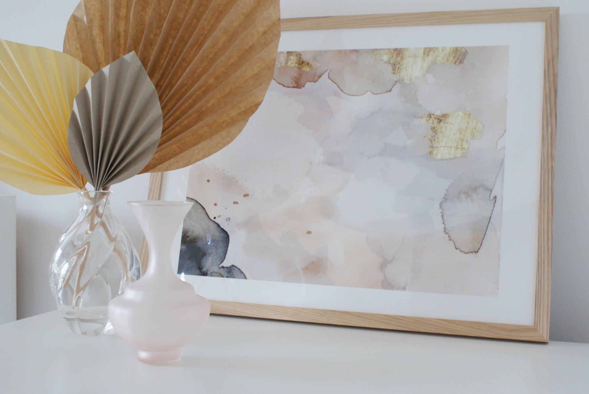 diy palm paper leaf leaves decor idea handmade craft easy simple tutorial home decoration neutral minimalist francinesplaceblog 4