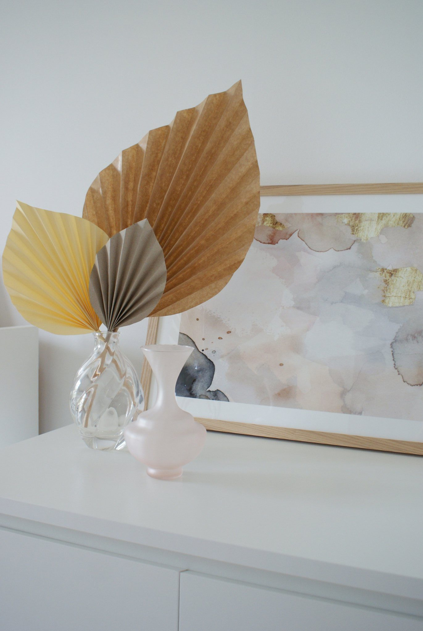 diy palm paper leaf leaves decor idea handmade craft easy simple tutorial home decoration neutral minimalist francinesplaceblog 5