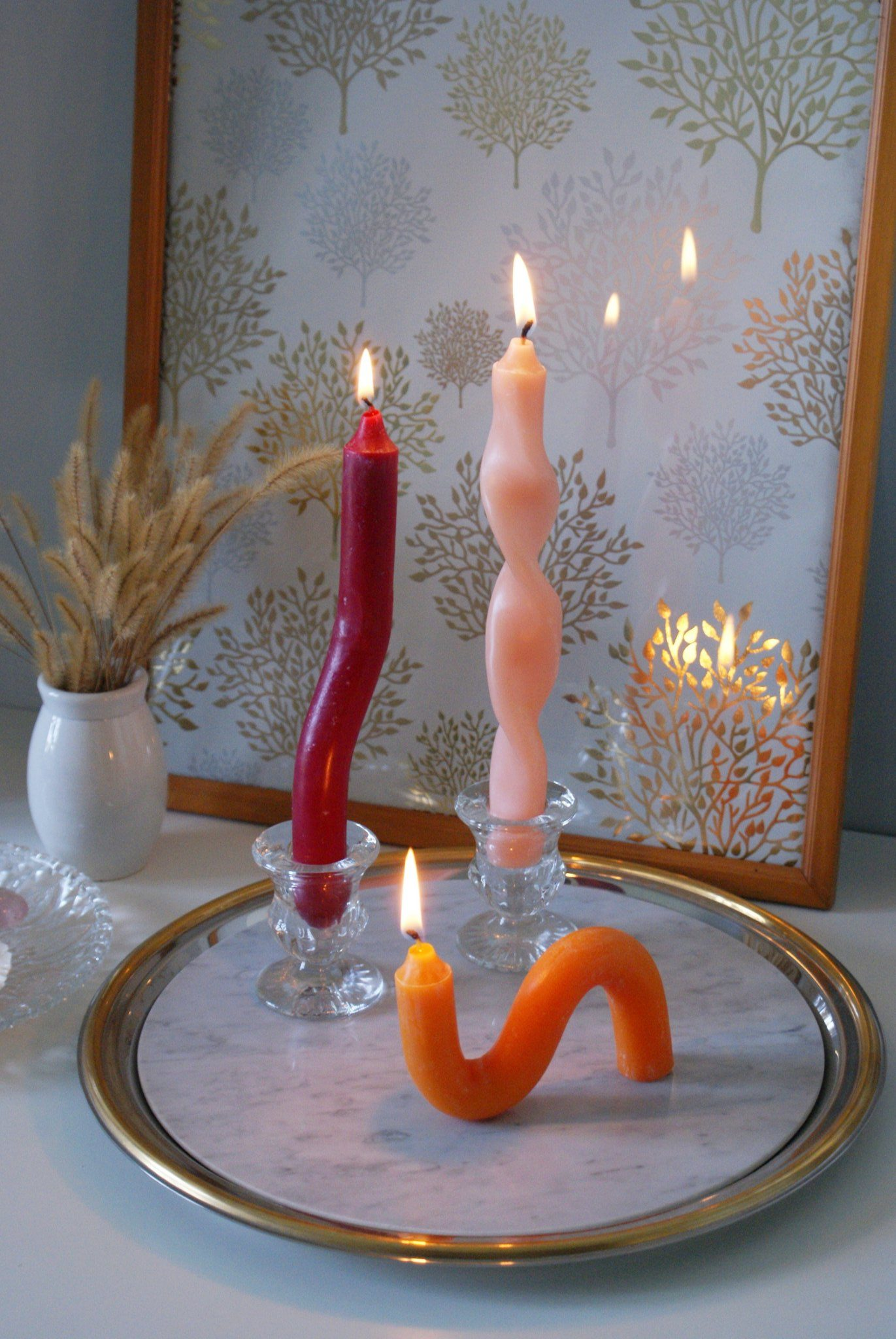 diy aesthetic twisted candles how make home decoration decorate fell idea craft easy tutorial sculpture francinesplaceblog 9