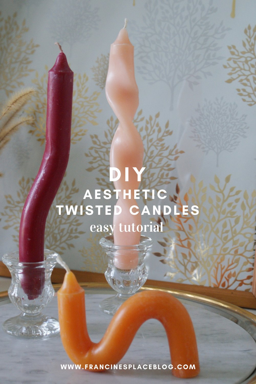 diy aesthetic twisted candles how make home decoration decorate fell idea craft easy tutorial sculpture francinesplaceblog pinterest